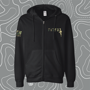 Black FITFO Rifle Zip Up Hoodie