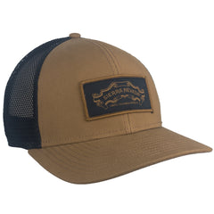 Black & Khaki Banner Trucker Hat