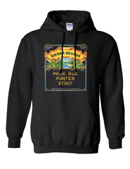 Pale-Porter-Stout Hooded Sweatshirt Black