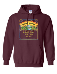 Pale-Porter-Stout Hooded Sweatshirt Maroon
