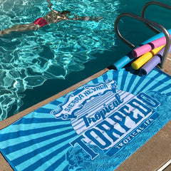 Tropical Torpedo Beach Towel