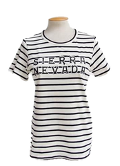 Women's Text Stripe T-Shirt