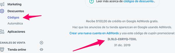 Shopify Google Adwords