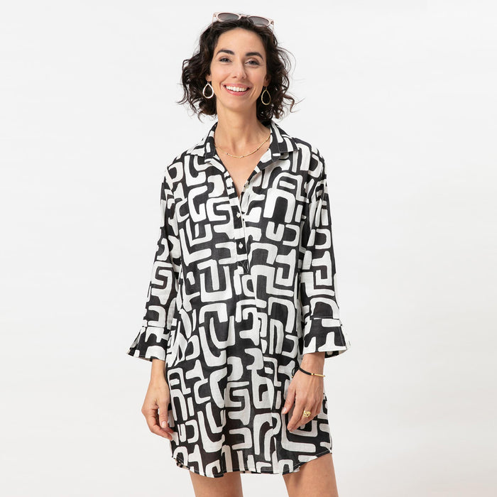 HARPER BLACK Blu Cotton Beach Tunic