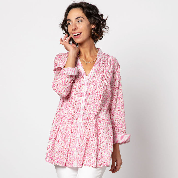 Colette Pink bluCotton Pintuck Tunic (available: March)