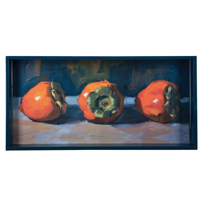 "Three Persimmons 10"" x 20"" Art Tray"