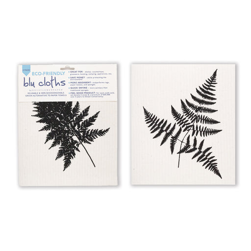Fern Leaf Blu Cloth Set 2