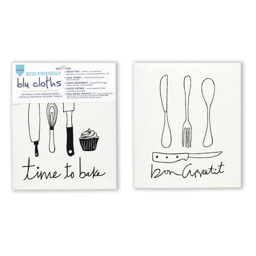 Bon Appetit Blu Cloth Set 2