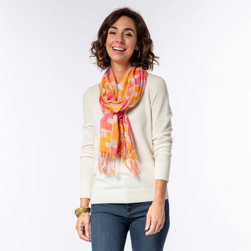 Emerson Pink Lux Scarf