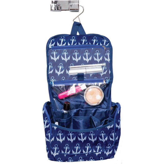 Anchor Navy Hanging Toiletry Bag