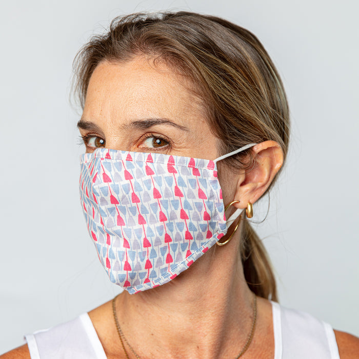 Jacey Lavender Reusable Pleated Cotton Mask - Reduced Price!