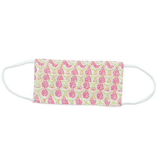 Ingrid Pink Reusable Pleated Cotton Mask