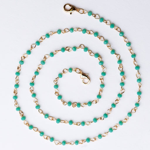 CELADON Beaded Gold Chain Mask Necklace