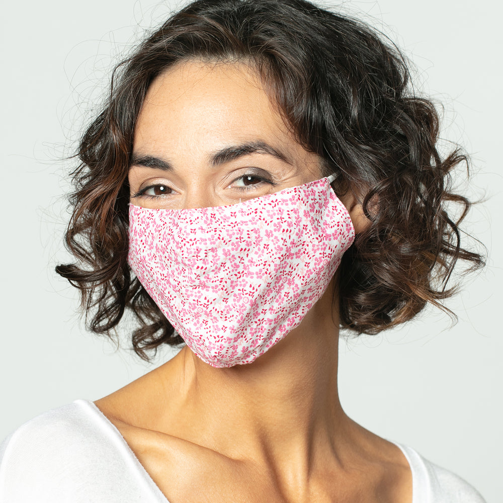 Colette Pink Reusable Cotton Face Mask