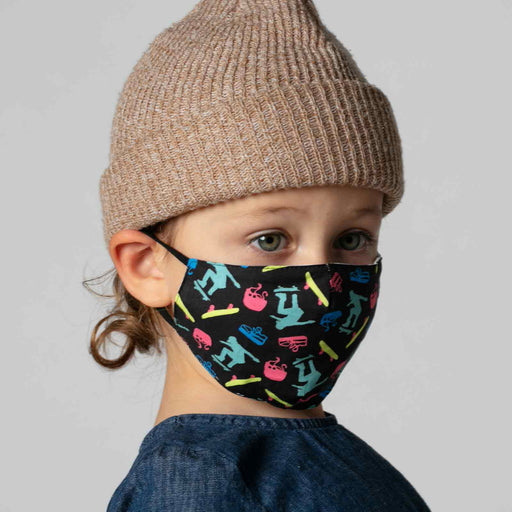 Skateboarding Black Reusable Cotton Kid's Mask