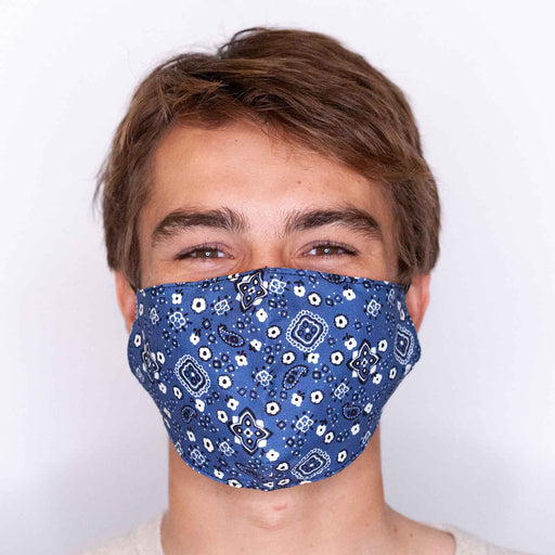 Bandana Navy Reusable Cotton Men's Mask
