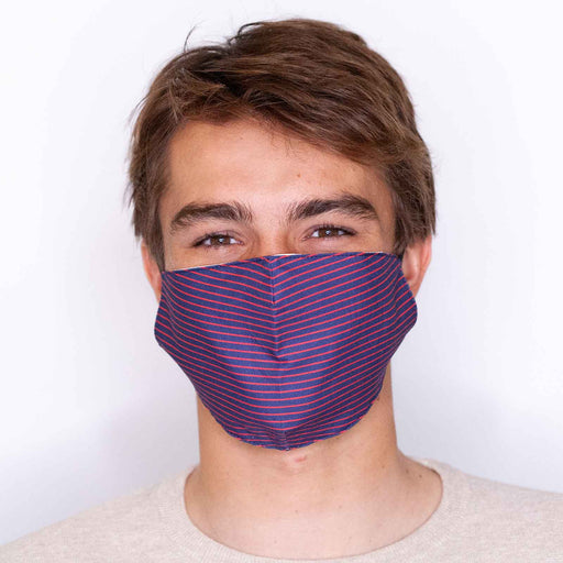Pin Stripe Reusable Cotton Men's Mask