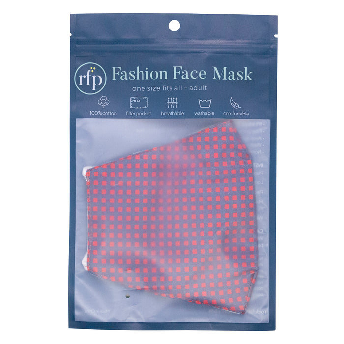 Gingham Green Reusable Cotton Men's Mask
