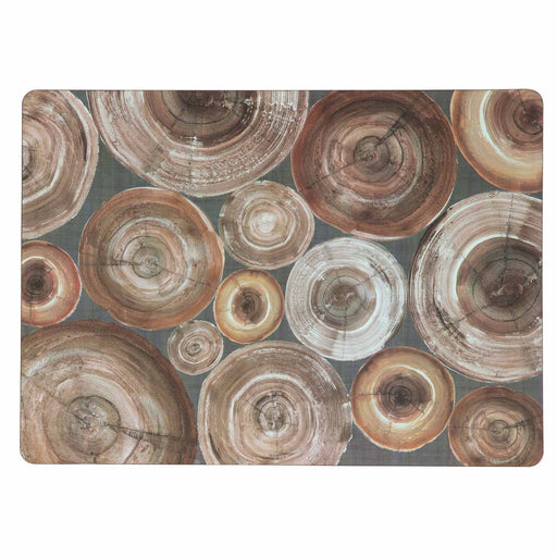 Stacked Wood Art Placemats - Set of 4