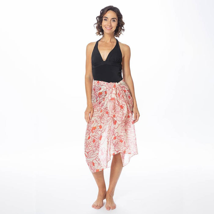 Rosalie Pink Recycled Cotton Pareo