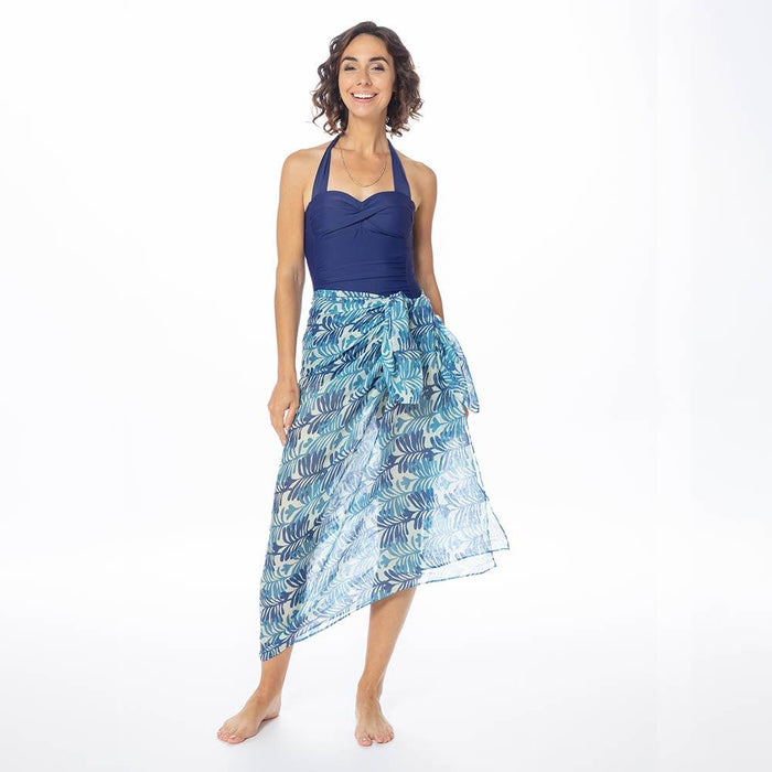 Georgia Blue Recycled Cotton Pareo
