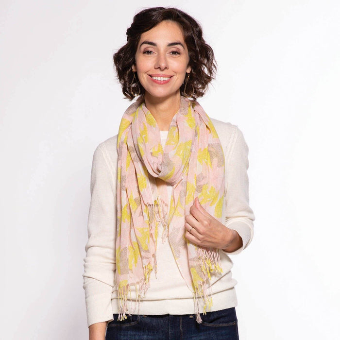 Ana Yellow Lux Scarf SCARVES-MICRO rfp-scarves
