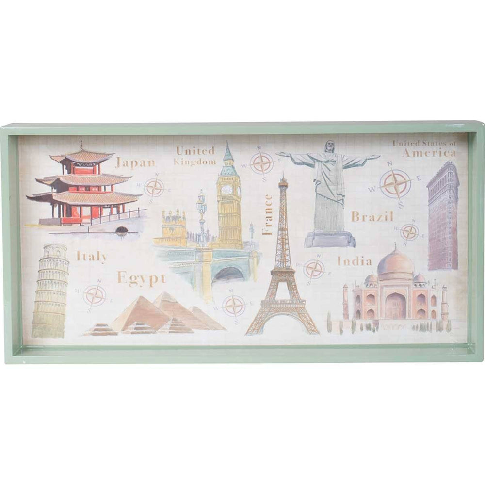 "Around the World 10"" x 20"" Art Tray TRAY-RECTANGULA rfp-home"