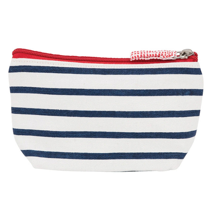 Bateau Stripe Navy Small Relaxed Pouch POUCH rfp-totes