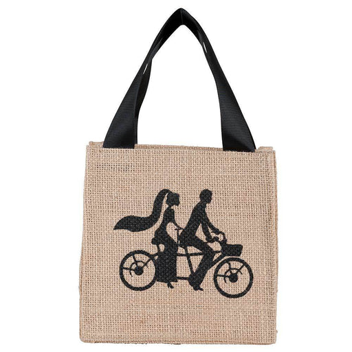 Bicycle for Two Medium Jute Itsy Bitsy Gift Bags, Pack of 8 (Price is per Bag) ITSYBITSYJUTE rfp-totes