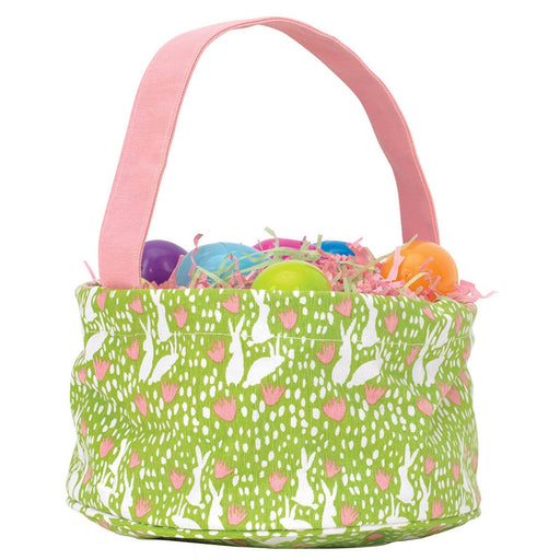 Bunnies Green blu Easter Basket EASTERBASKET rfp-blu