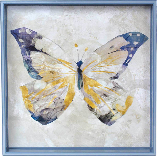 "Butterfly 15"" x 15"" Art Tray TRAY-SQUARE rfp-home"