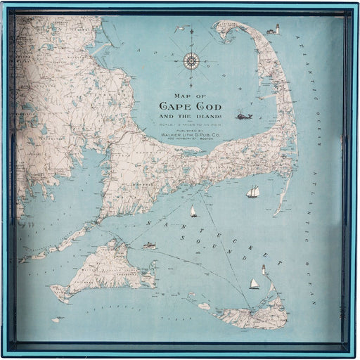 "Cape Cod 15"" x 15"" Art Tray TRAY-SQUARE rfp-home"