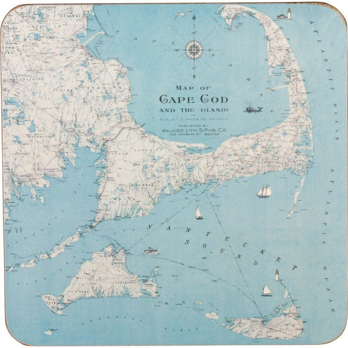 Cape Cod Art Coasters - Set Four HARDCOASTERS-SQ rfp-home