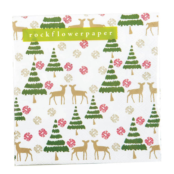Deer Tree Cocktail Napkin NAPKIN_PAPER rfp-home