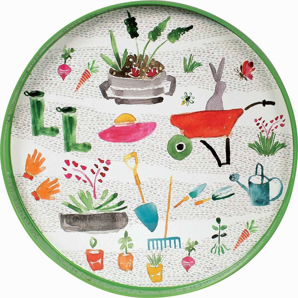 Garden Party 18 inch Round Serving Tray TRAY-ROUND rfp-home