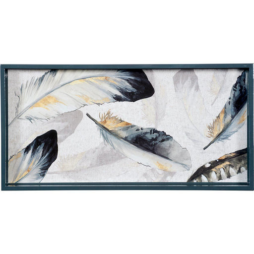 "Gilded Feathers 10"" x 20"" Art Tray TRAY-RECTANGULA rfp-home"