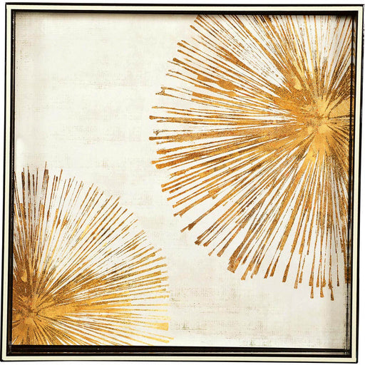 "Gold Sunbursts 15"" x 15"" Art Tray TRAY-SQUARE rfp-home"