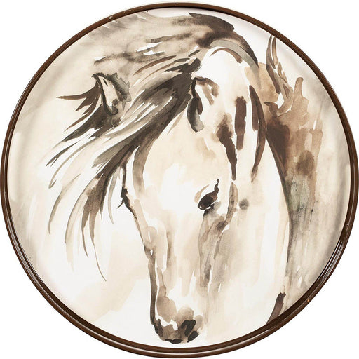 "Horse 15"" Coco Tray TRAY-ROUND rfp-home"
