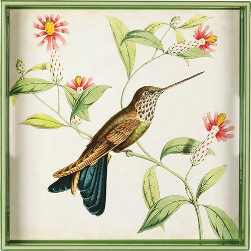 "Hummingbird 15"" x 15"" Art Tray TRAY-SQUARE rfp-home"