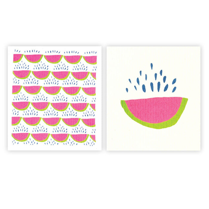 Juicy Watermelon Eco-Friendly blu Cloths - Set of 2 BLUCLOTH rfp-blu
