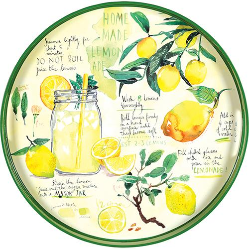 "Lemonade 15"" Coco Tray TRAY-ROUND rfp-home"