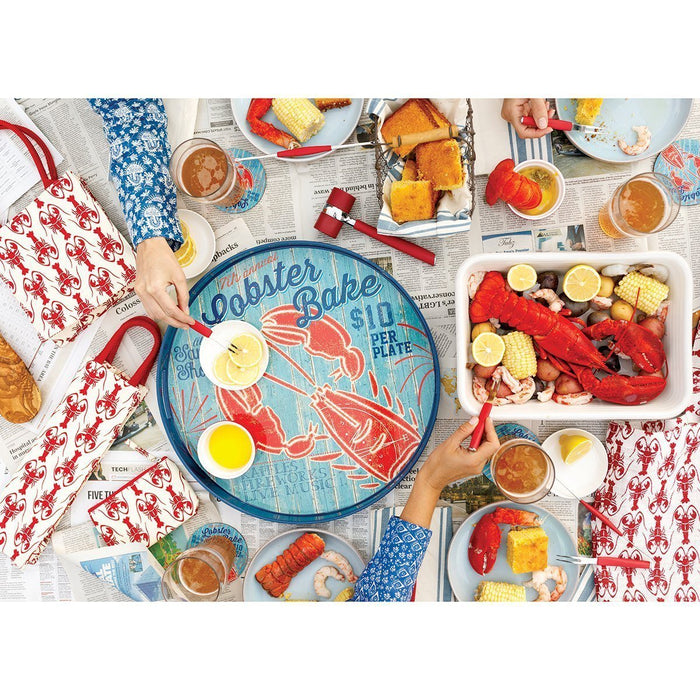 Lobster Bake 18 inch Round Lacquer Serving Tray TRAY-ROUND rfp-home