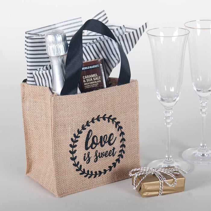 Love is Sweet Medium Jute Itsy Bitsy Gift Bags, Pack of 8 (Price is per Bag) ITSYBITSYJUTE rfp-totes