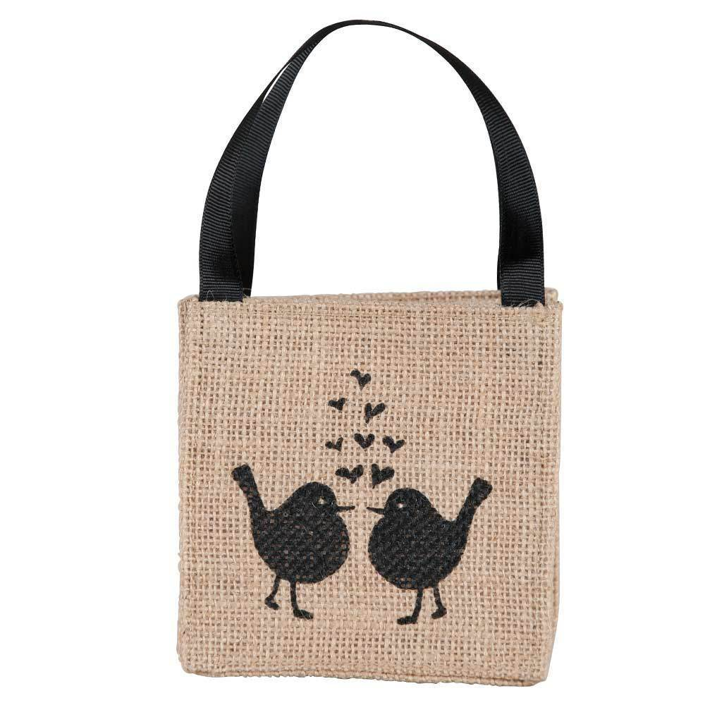 Lovebirds Mini Jute Itsy Bitsy Gift Bags, Pack of 10 (Price is per Bag) ITSYBITSYJUTE rfp-totes