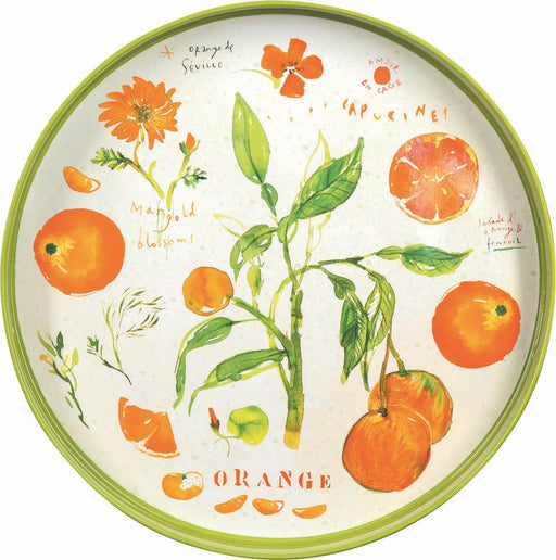"Oranges 15"" Coco Tray TRAY-ROUND rfp-home"