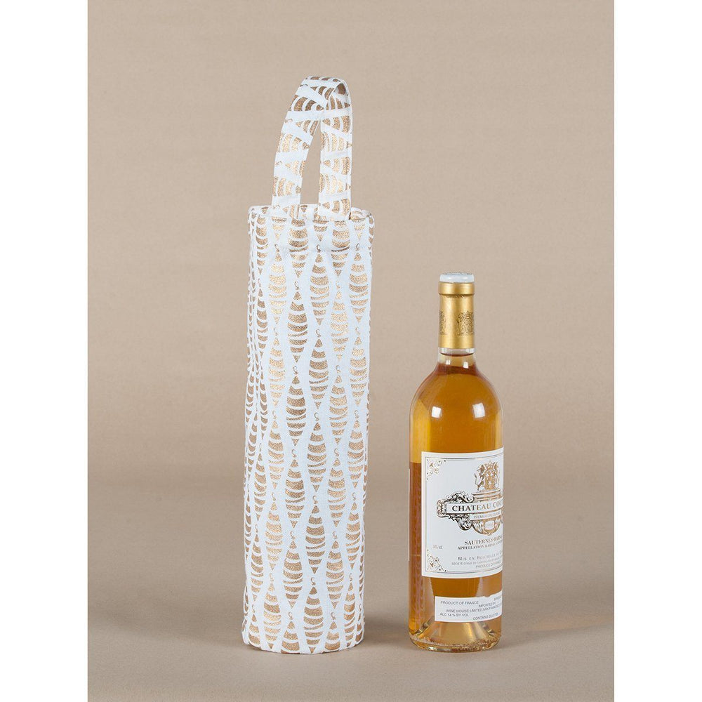 Ornaments Gold Metallic Wine Gift Bag - 8/25 WINETOTE rfp-totes