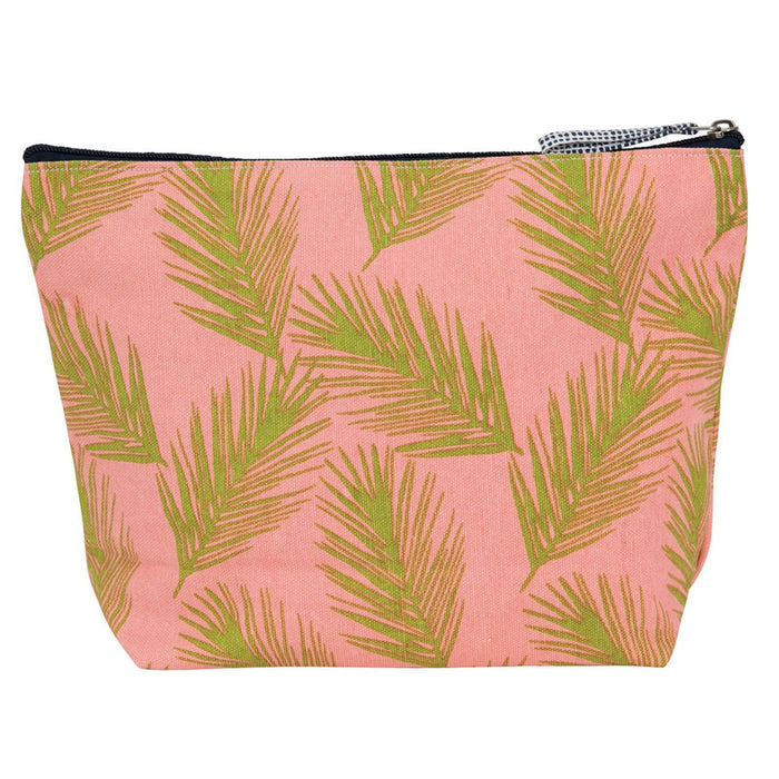 Palm Fronds Pink Large Relaxed Pouch POUCH rfp-totes