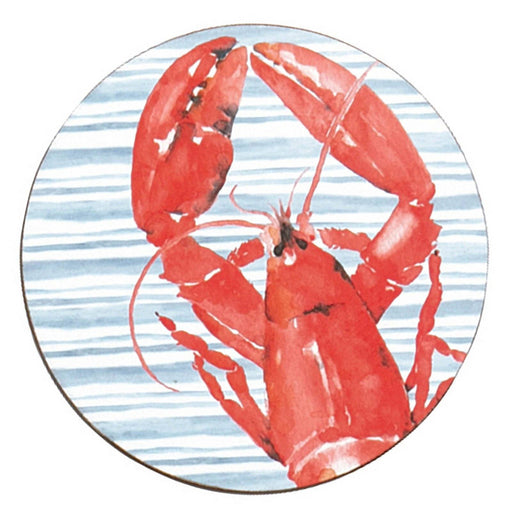 Red Lobster Round Art Coasters - Set of 4 HARDCOASTERS rfp-home