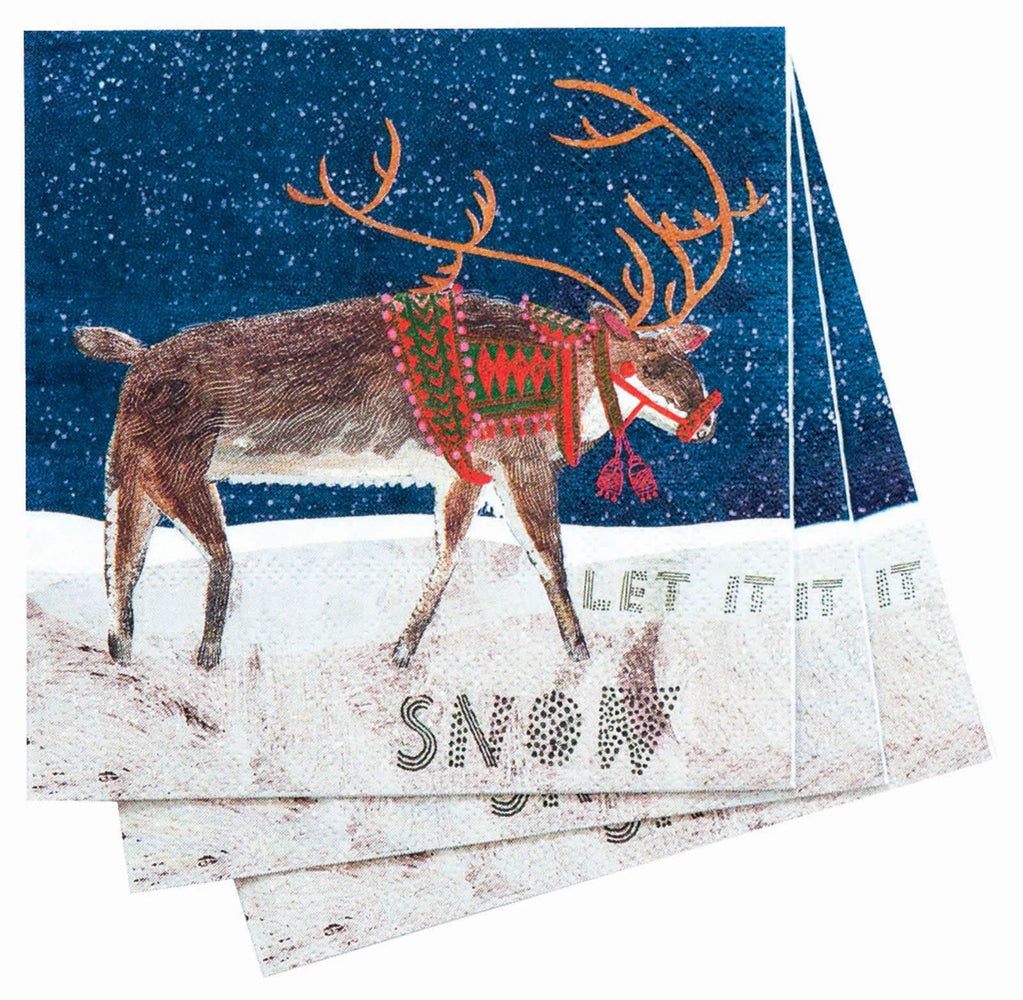 Reindeer Cocktail Napkin NAPKIN_PAPER rfp-home