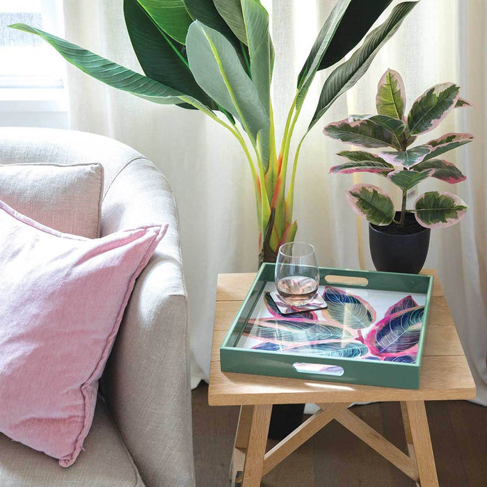 "Rubber Plant 15"" x 15"" Art Tray TRAY-SQUARE rfp-home"